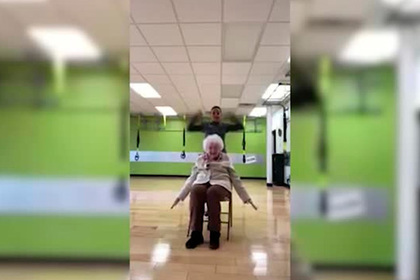 Тренировка хохочущей 93-летней бабушки покорила пользователей сети