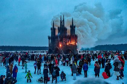 Художник извинился за сожжение христианского храма на Масленицу