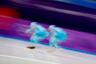 Конькобежцы из Казахстана перед соревнованиями на 1500 метров. Нет, у вас не двоится в глазах. Средняя скорость спортсменов на данной дистанции превышает 50 километров в час.