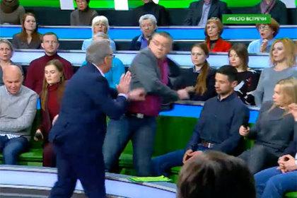 Украинский политолог спровоцировал массовую драку на НТВ