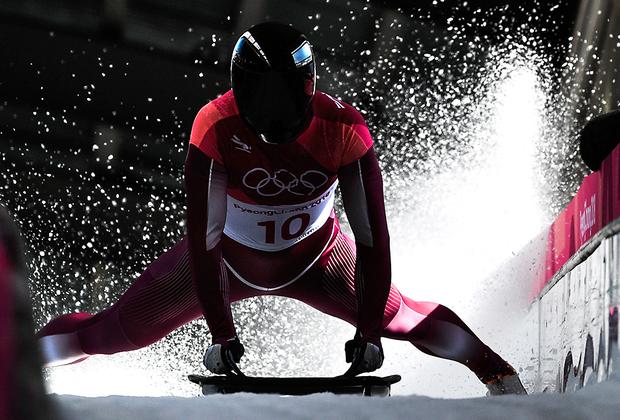 Российский скелетонист Никита Трегубов дал по тормозам. Теперь он серебряный медалист Игр.