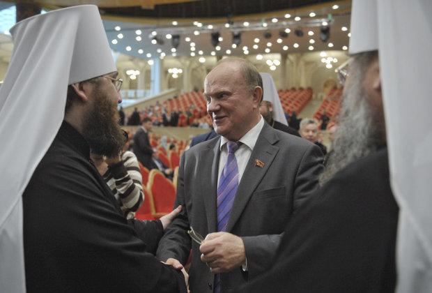 Лидер КПРФ Геннадий Зюганов на церемонии открытия XVIII Всемирного Русского Народного Собора