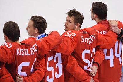 Российским хоккеистам простили исполнение гимна после победы на Олимпиаде