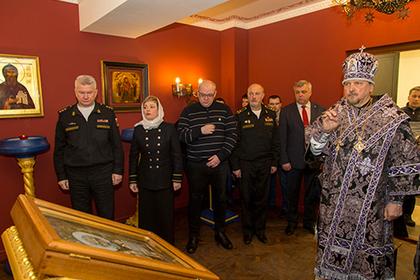 В штабе Северного флота освятили православный храм