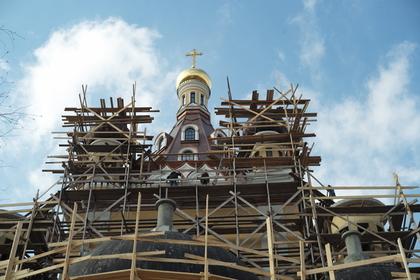 Строящийся храм Сретения Господня в Жулебино