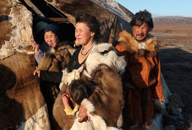 На стойбище чукчей-оленеводов поселка Канчалан Чукотского автономного округа