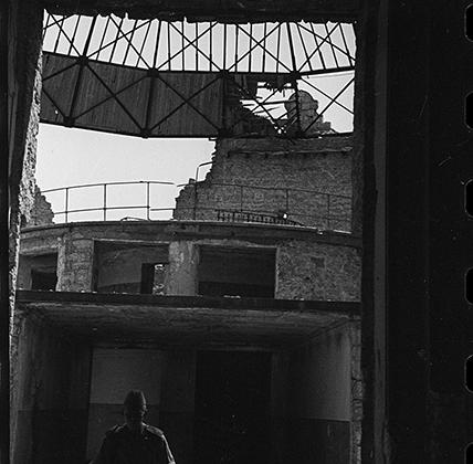Здание панорамы, разрушенное немцами. Севастополь.