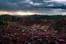 Академия буддизма Five Sciences, надвигается шторм.  Снимок вошел в шорт-лист открытой программы в категории «Архитектура».