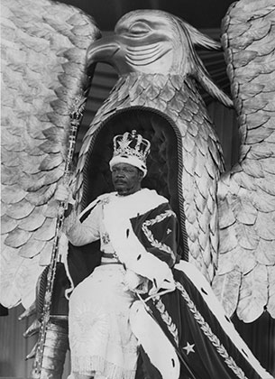 На церемонии коронации