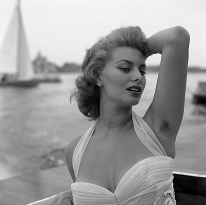 Актриса Софи Лорен в Венеции, 1955 год