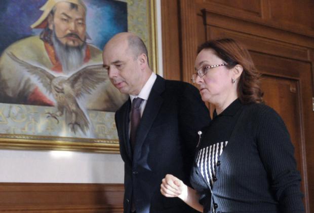 Антон Силуанов и Эльвира Набиуллина
