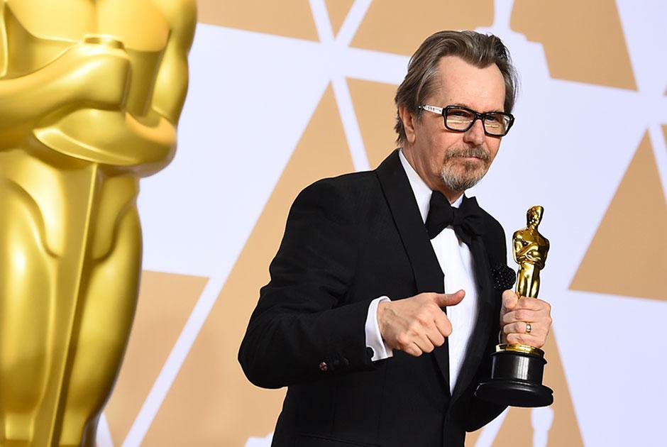Актер Гэри Олдмэн, получивший «Оскар» за роль в фильме «Темные времена»
