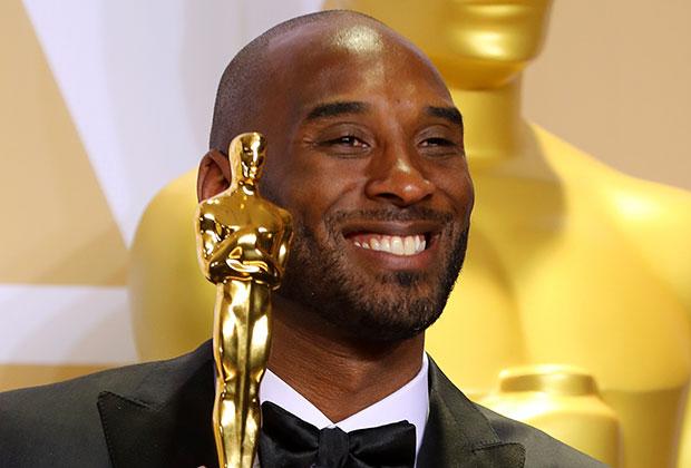 Баскетболист Коби Брайант с «Оскаром» за лучший короткометражный мультипликационный фильм