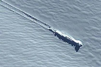 На картах Google разглядели следы крушения неопознанного корабля