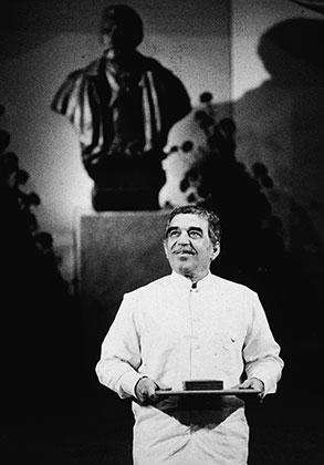На вручении Нобелевской премии, 1982 год