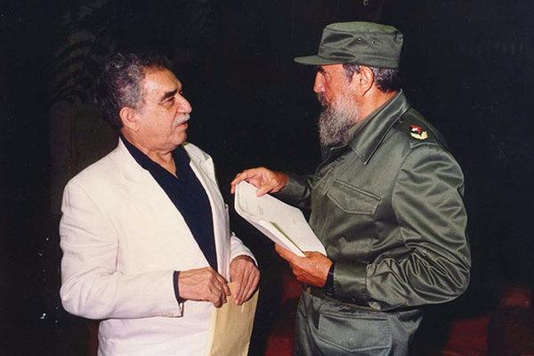 Габриэль Гарсиа Маркес с Фиделем Кастро