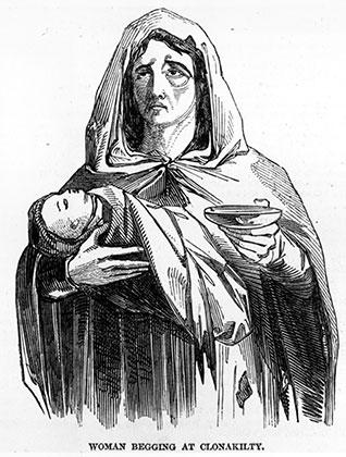Женщина с ребенком. Великий голод