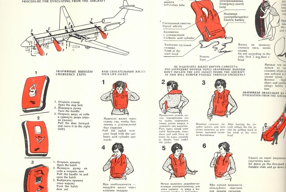 Инструкция по безопасности самолета Ту-154, которую использовали следователи при реконструкции событий.