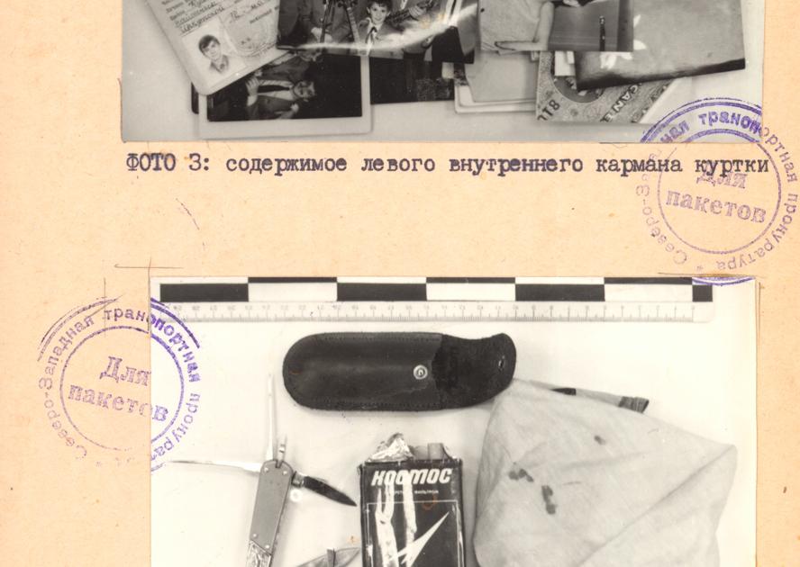 Вещи, принадлежавшие Овечкиным, найденные при осмотре места происшествия и в военном госпитале, куда доставляли выживших.