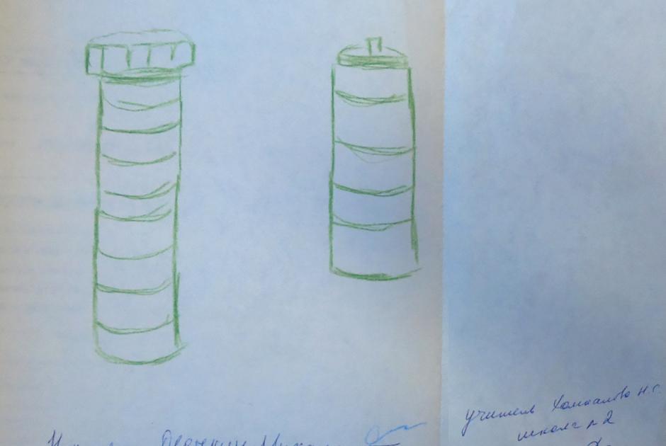 Рисунок Миши Овечкина — самодельные взрывные устройства, изготовленные братьями Овечкиными.
