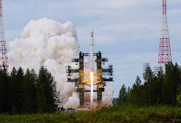 Пуск ракеты «Ангара-1.2» с Плесецка
