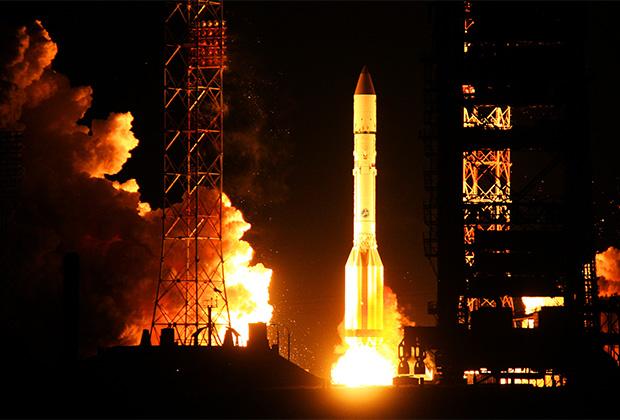 Старт ракеты «Протон-М»
