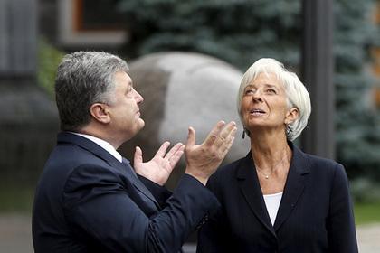 Петр Порошенко и глава МВФ Кристин Лагард