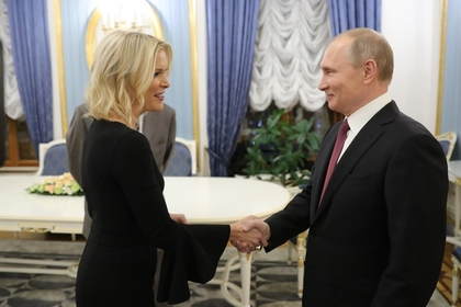 Президент России Владимир Путин и журналистка NBC Мегин Келли