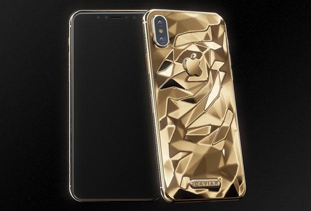 IPhone Xотлили вжидком золоте