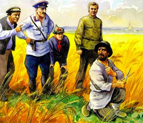 Арест крестьянина-«стригуна»