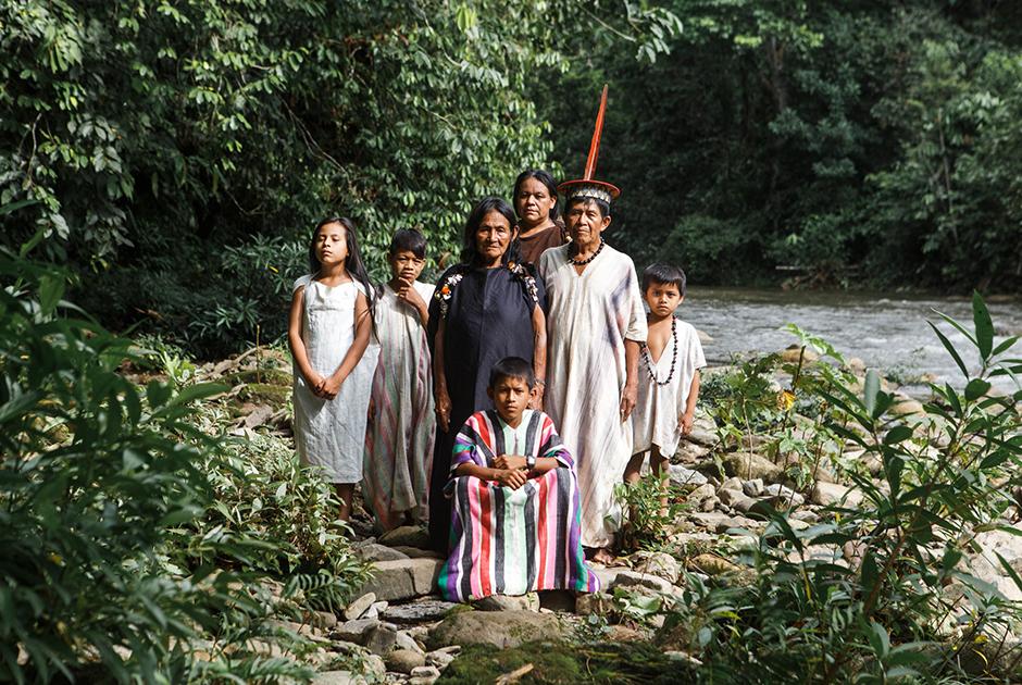 Семья из племени ашанинка