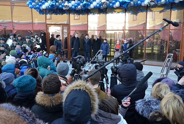 Церемония открытия детского космического центра в Кирове