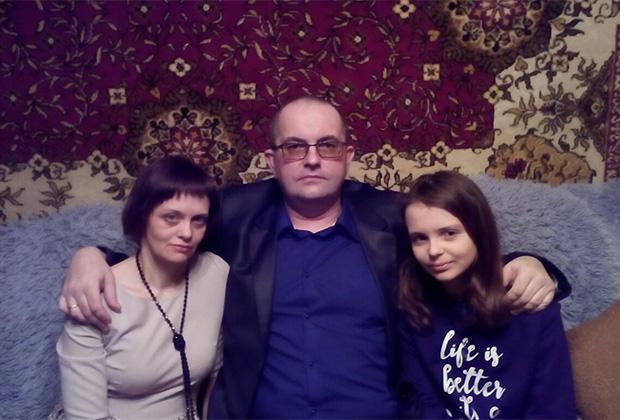 Андрей Архипенков с семьей