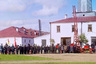 Вольное пожарное общество города Вытегры было учреждено 29 апреля 1889 года. Пожарная команда образована 14 января 1890 года. На заднем плане напротив ворот стоит пожарный локомобиль. Пожарная часть находилась в этом здании до 2012 года.