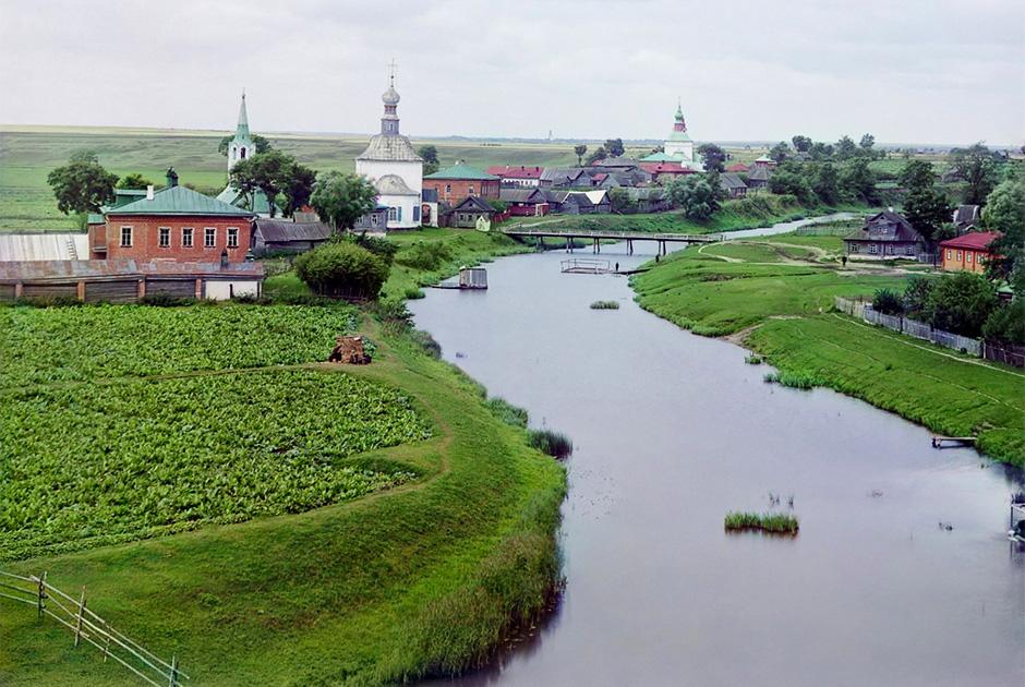 Вид на Суздаль по реке Каменке, 1912 год
