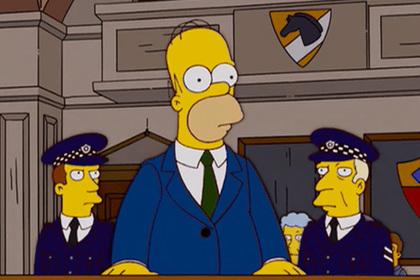 Полицейским предъявили права Гомера Симпсона