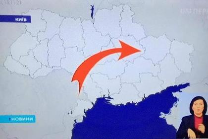 Украинский телеканал стер Крым с лица Земли