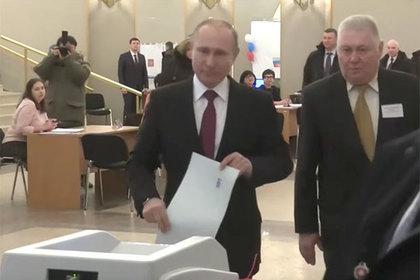 Появилось видео голосования Путина