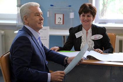 Собянин проголосовал на выборах президента