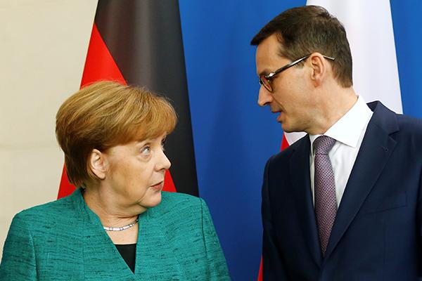 Ангела Меркель и Матеуш Моравецкий