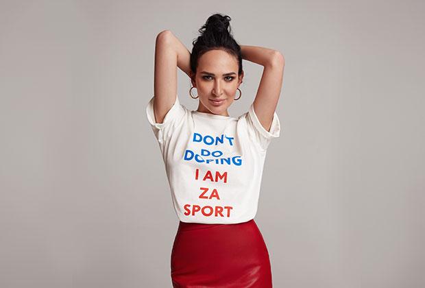 Анастасия Задорина в футболке Don't do doping, которая особенно полюбилась пойманной на допинге бобслеистке Надежде Сергеевой