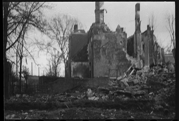 Немецкий город Бреслау. Разрушения. 1-й Украинский фронт, 24 февраля 1945 года.