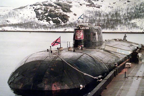 Подводная лодка К-141 «Курск» в мае 2000 года