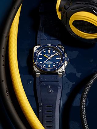 Часы BR03-92 Diver Blue