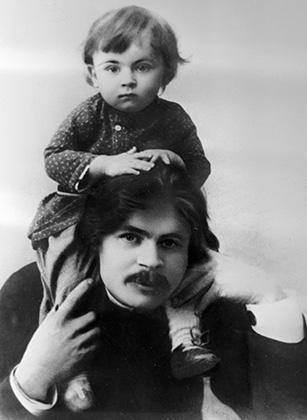 Максим Горький с сыном Максимом