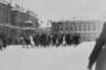 Празднование первой годовщины Красной армии. Петроград, 1919.