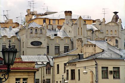 Старые постройки в районе Остоженки