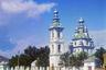 Собор был построен в 1800 году на возвышенности близ берега Онежского озера на средства горожан. В 1924 году храм был сожжен.