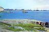 Старинное поморское село располагалось на берегу Онежской губы в месте впадения реки Выг в Белое море. Известно с 1419 года.