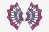 Кольцо от французского ювелира Франсуа Гаруда напоминает минималистичные стилизованные веера из синего титана с красной и розовой шпинелью, а названо в честь стрекозы.